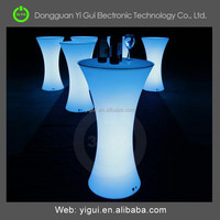 led colorful luminous plastic table for big event or party