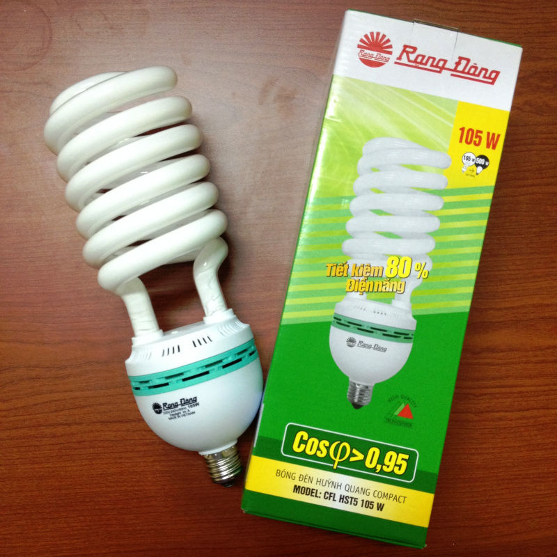 HS (Half spiral) 105W energy saving lamp