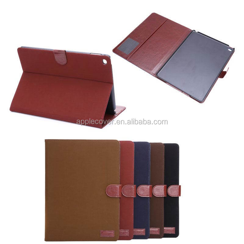 High quality Retro book style leather case for new Ipad air 2