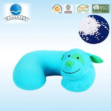 Light blue sheep heads food grade microbeads stuffed u shape pillow