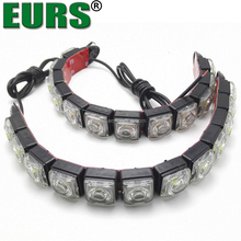 Manufacturers selling curved snake day lamp 16led DC12V 8W hawk eye car LED daytime running lights