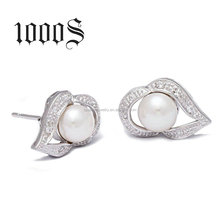 925 Silver Pearl Earring, Women Silver Earring Wholesale