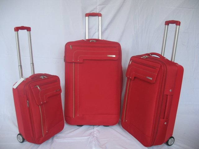 3pcs set nylon EVA trolley luggage