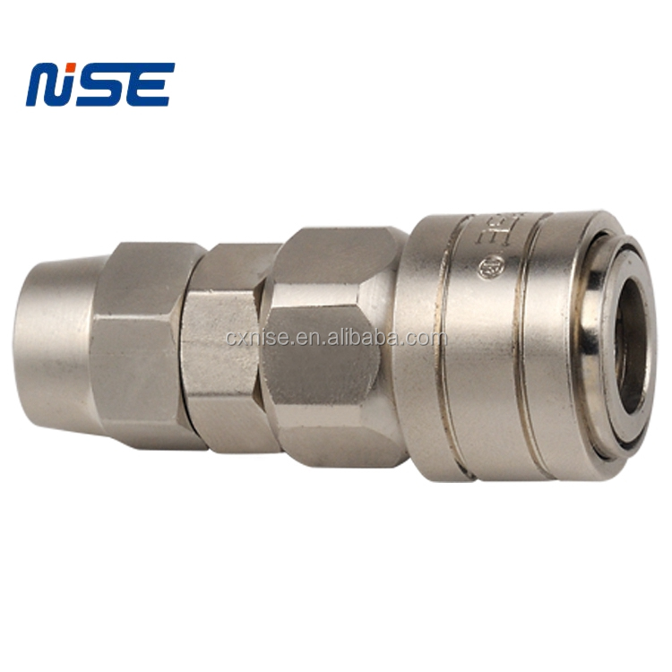 Japanese type pneumatic quick disconnect coupling air hose tube quick coupler