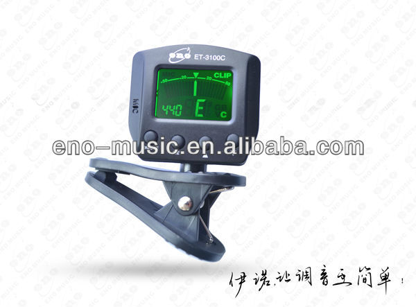 Eno best seller A4 adjustable and micro pickup mini clip guitar tuner