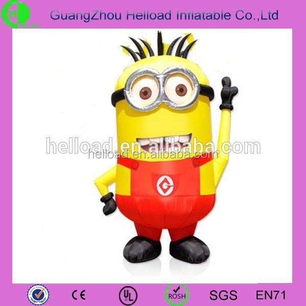 hot sale large inflatable minion, giant inflatable character for sale