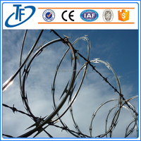 Security Fence concertina Razor Barbed Wire mesh for Prison and Airport (factory price)