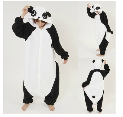 High-Quality Winter warmth New Adult Animal Pajamas White Kongfu Panda Onesie Kigurumi Cosplay Faster to USA EU