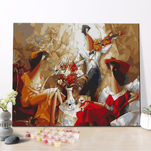 CHENISTORY DZ1348 Impressionists Painting By Numbers Abstract Opera Picture On Canvas With Frame