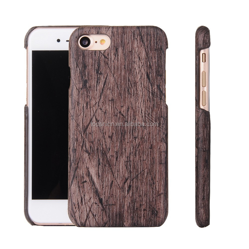 wood leather skin cover for iphone7, for apple iphone7 back casing housing leather cover