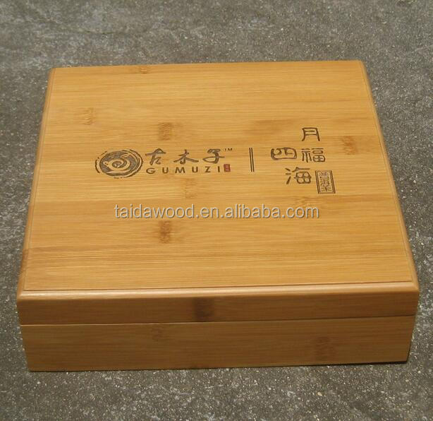 flip top removeable lids bamboo gift box