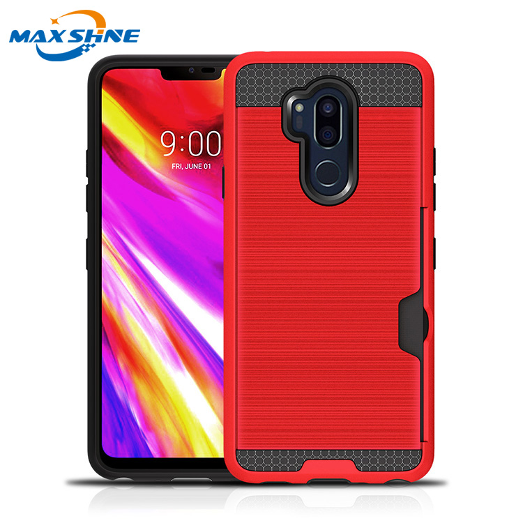 Maxshine 2018 new arrival phone cases for LG G7, anti shock case for LG G7  hybrid tpu pc case