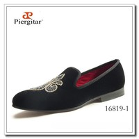 Fashion Men Footwear Black Velvet Loafers