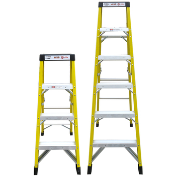 Electric company use insulated 7 step with plastic top fiberglass folding step ladder