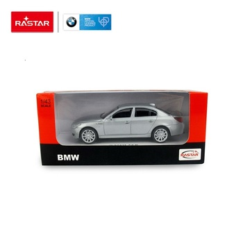 Rastar licensed by BMW 5 small diecast model toy car in display case for sale
