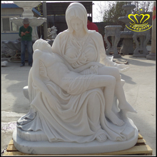 Antique marble Virgin Mary Mourn Jesus Statues for sale