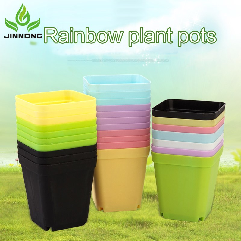 China wholesale factory price high quality small size outdoor cheap plastic flower pots wholesale
