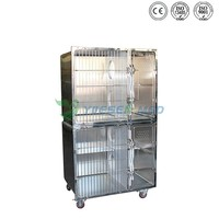 Comfortable stainless steel three layer dog kennel cage