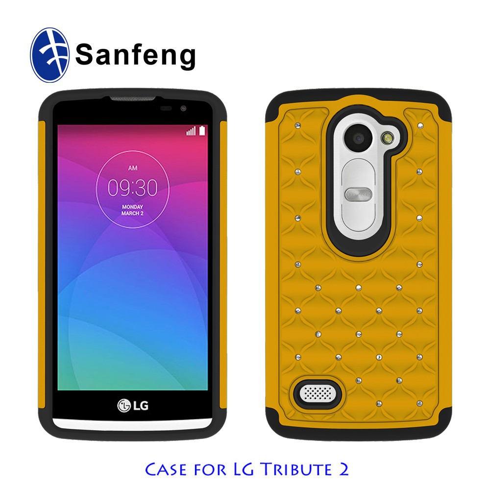 China western design plastic cell phone case for lg tribute 2 ls665