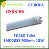High quality 3year warranty CE ROHS led aquarium tube light t5 t8 13w