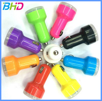 high quality colorful OEM LOGO 2 port dual port usb car charger adapter for smartphone and latop