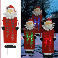 Metal santa claus with led light for christmas outdoor decoration