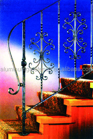 low price iron spindles handrailing for stairs italian