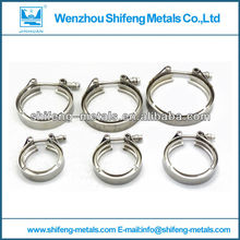 stainless steel exhaust clamp v band