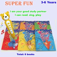 Fashionable Recording Pen,Reader Pen and English Talking Pen Book Super Fun for Children Learning 6 Books