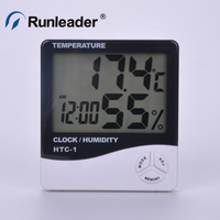 Digital Indoor Temperature and Humidity Meter with Alarm Clock Hygrometer for Room or Car