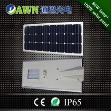 80 watt top quality high lumen integrated all in one solar led street light canvas lantern
