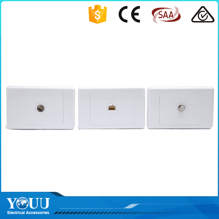 YOUU Best Selling Products Australian Standard Electric Data And Satellite Wall Switch Socket