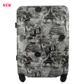 3 piece new design printed Travel Trolley Luggage suitcase super light set