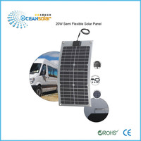 Guangzhou manufactor semi flexible solar panel in good price factory directly sale solar charger for rv