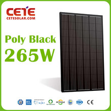 Black Poly Panel PV 265W Polycrystalline Solar Panel PV Module 60 Cell Solarpanel for Solar System Solar Plant