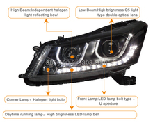 LED car HID auto head lamp used for HONDA ACCORD 2008-2012