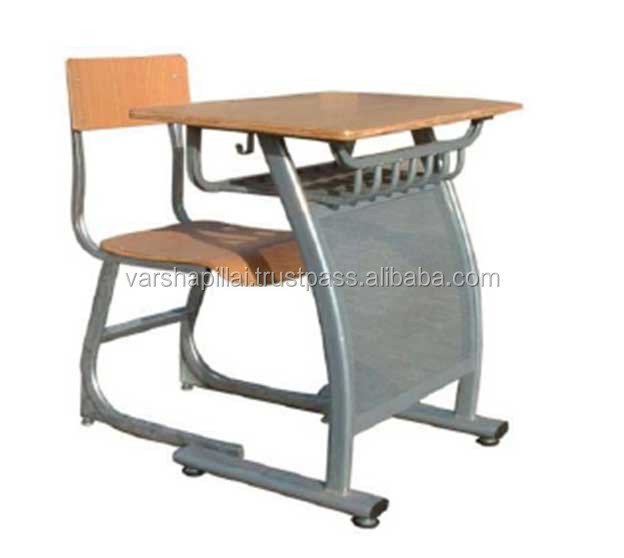 Kids School Furniture / Single School Desk and Chair