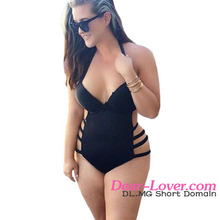 Custom Ladies XXX Swimwear 2016 Hot Sale Very Cheap Black Cut Out One Piece Women Swimwear Plus Size