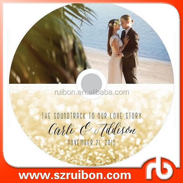 Wedding CD Label Template - Wedding DVD Case - CD Sleeve Cover