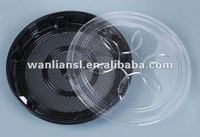 Round plastic packaging tray