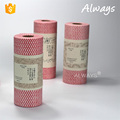 Woodpulp Polyester lint free roll type wiper For Household cleaning