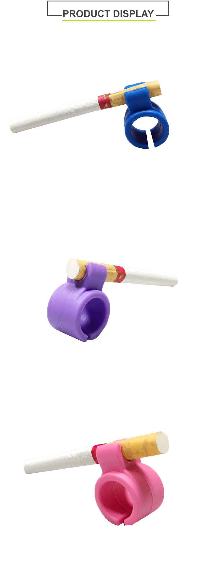 Creative Design Rubber Silicone Finger Ring Cigarette Holder