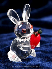 small crystal animal rabbit figurines for table decoration MH-D0424