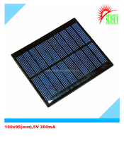 Epoxy resin/PET laminted 5V 500mA 2.5W mini solar panel