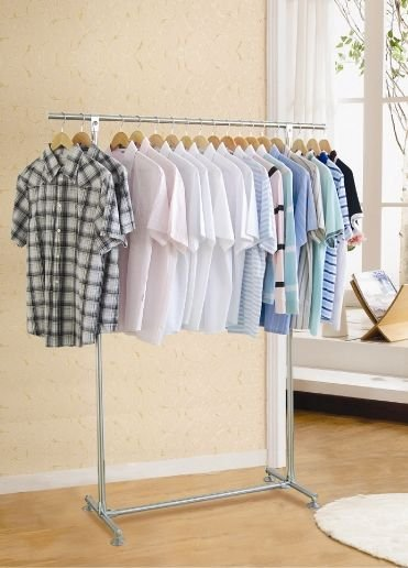single -pole over door clothes laundry hanger