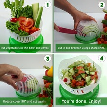 Hot sell 60 Second Salad Vegetable Maker Cutter Slicer Bowl