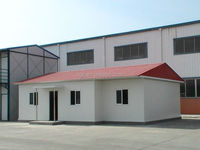 Pitched roof steel structure prefabricated houses and villas