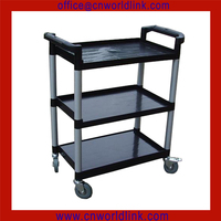 OEM 032 With Alumina Pillar Plastic Mobile Service Hotel Trolley