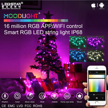 Moodlight smart decorative light, mobile APP control Christmas decorative twinkle LED string light