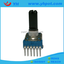 jiangsu 12mm remote control rotary 10k linear potentiometer with 6 pin